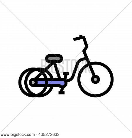 Tricycle Bicycle Type Color Icon Vector. Tricycle Bicycle Type Sign. Isolated Symbol Illustration