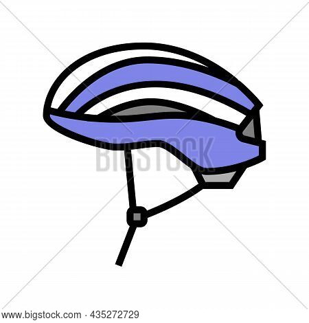 Helmet Protect For Cyclist Color Icon Vector. Helmet Protect For Cyclist Sign. Isolated Symbol Illus