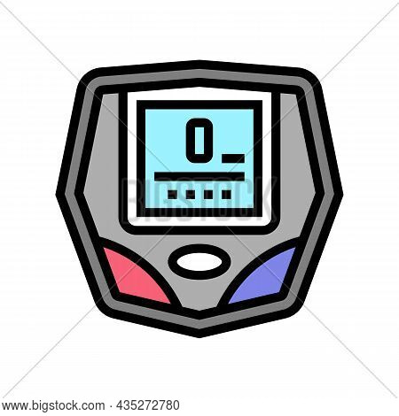 Cyclometer Bike Device Color Icon Vector. Cyclometer Bike Device Sign. Isolated Symbol Illustration