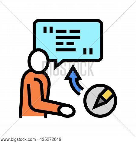 Corporate Communications Copywriting Color Icon Vector. Corporate Communications Copywriting Sign. I