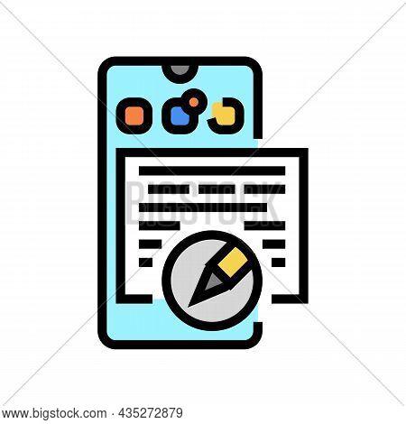 Social Media Copywriting Color Icon Vector. Social Media Copywriting Sign. Isolated Symbol Illustrat