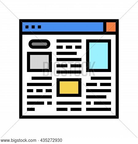 Article Web Information Color Icon Vector. Article Web Information Sign. Isolated Symbol Illustratio
