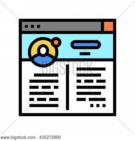 Blog Social Media Color Icon Vector. Blog Social Media Sign. Isolated Symbol Illustration
