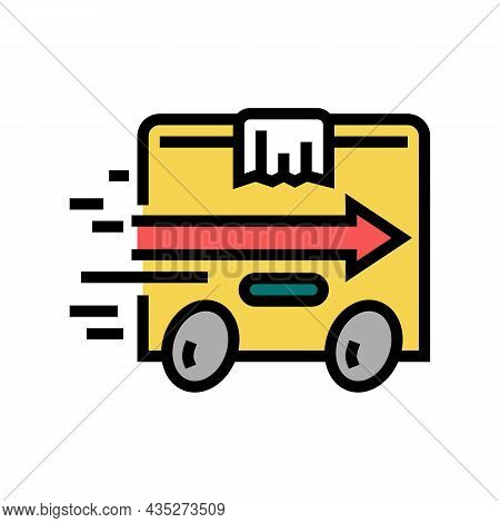 Express Delivery Color Icon Vector. Express Delivery Sign. Isolated Symbol Illustration
