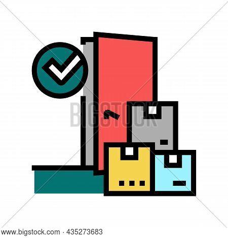 Door To Door Service Color Icon Vector. Door To Door Service Sign. Isolated Symbol Illustration
