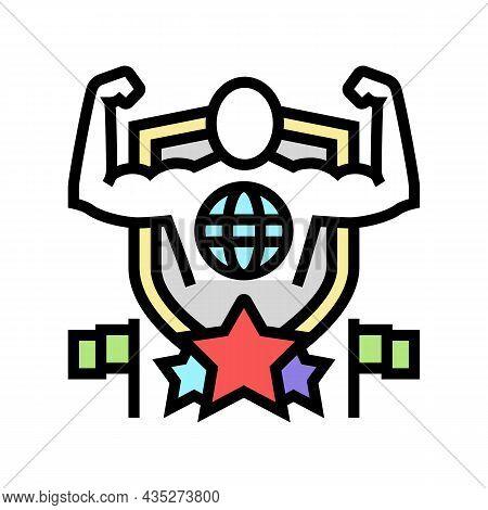 Patriotism Citizen Color Icon Vector. Patriotism Citizen Sign. Isolated Symbol Illustration