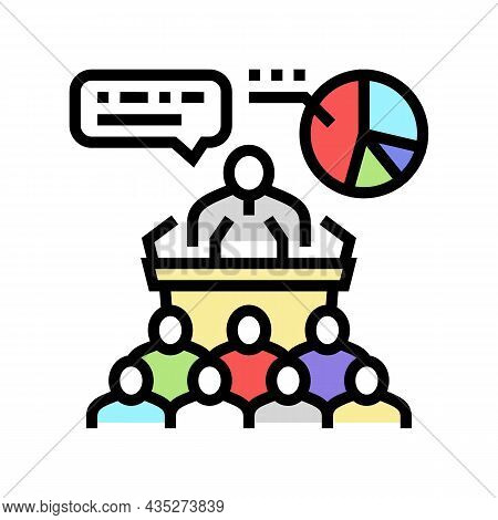 Political Campaign Color Icon Vector. Political Campaign Sign. Isolated Symbol Illustration