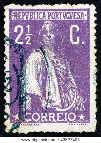 Postage Stamp Portugal 1912 Ceres, Goddes Of Agriculture