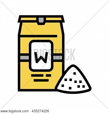 Wheat Flour Package Color Icon Vector. Wheat Flour Package Sign. Isolated Symbol Illustration