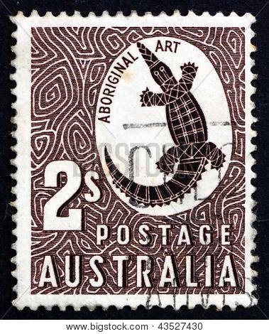 Postage Stamp Australia 1948 Saltwater Crocodile