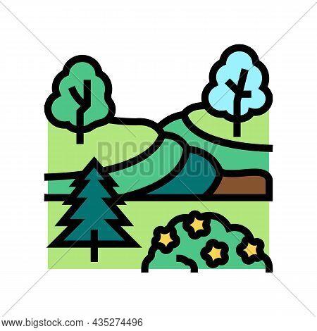 Landscape Maintenance Services Color Icon Vector. Landscape Maintenance Services Sign. Isolated Symb