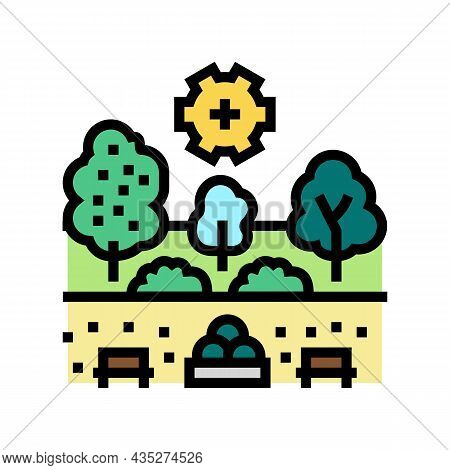 Landscape Development Services Color Icon Vector. Landscape Development Services Sign. Isolated Symb