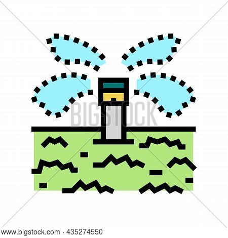 Irrigation System For Watering Color Icon Vector. Irrigation System For Watering Sign. Isolated Symb