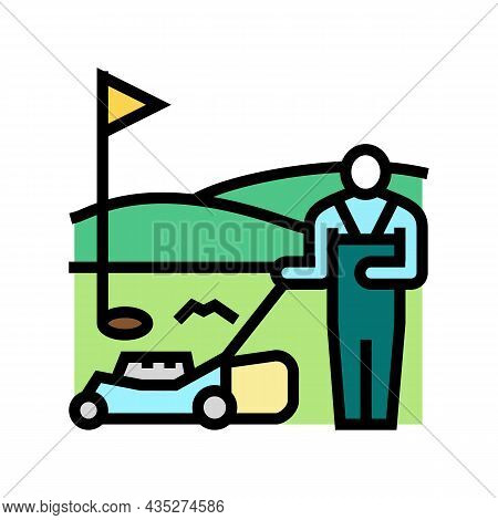 Sports Turf Services Color Icon Vector. Sports Turf Services Sign. Isolated Symbol Illustration