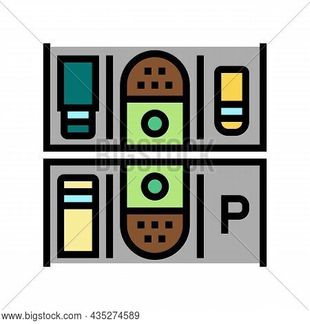 Multi-location Management Services Color Icon Vector. Multi-location Management Services Sign. Isola