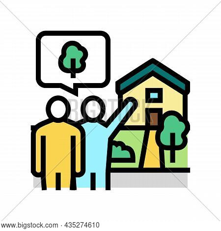 Home Consultations Color Icon Vector. Home Consultations Sign. Isolated Symbol Illustration
