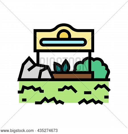 Commercial Landscape Color Icon Vector. Commercial Landscape Sign. Isolated Symbol Illustration