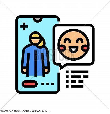 Pediatrician Consultation Color Icon Vector. Pediatrician Consultation Sign. Isolated Symbol Illustr