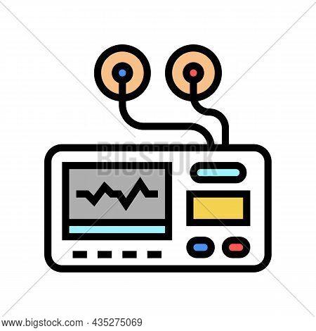 Portable Electrocardiogram Color Icon Vector. Portable Electrocardiogram Sign. Isolated Symbol Illus