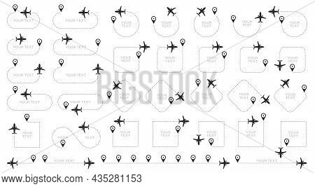 The Flight Path Of The Aircraft From The Point Of Location Along The Dotted Line. Flight Route From