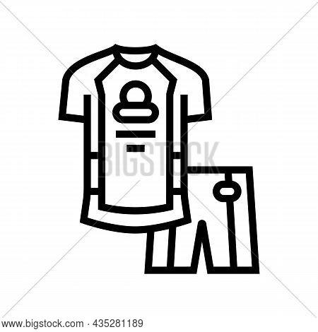 Riding Cloth For Bike Rider Line Icon Vector. Riding Cloth For Bike Rider Sign. Isolated Contour Sym