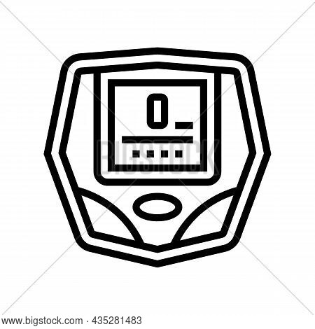 Cyclometer Bike Device Line Icon Vector. Cyclometer Bike Device Sign. Isolated Contour Symbol Black