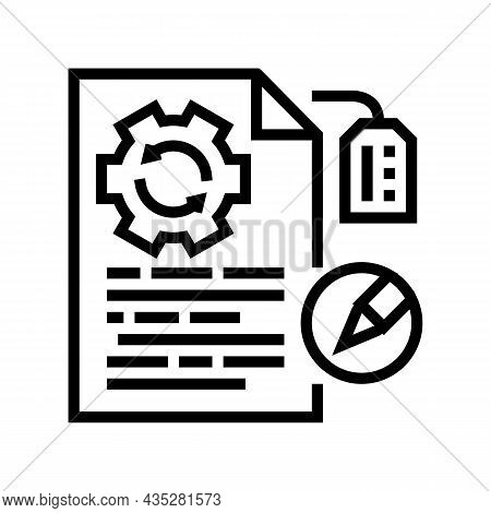 Brand Development Copywriting Line Icon Vector. Brand Development Copywriting Sign. Isolated Contour