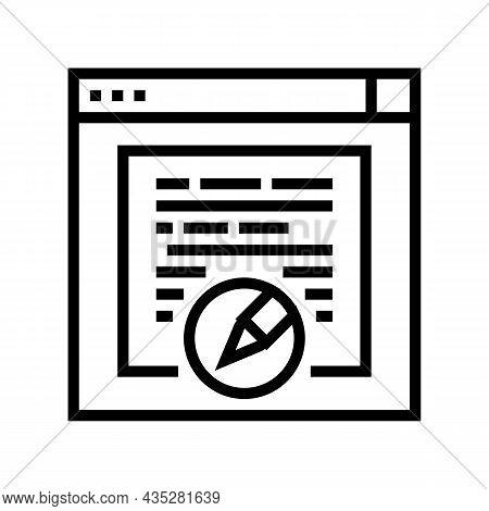 Websites Copywriting Line Icon Vector. Websites Copywriting Sign. Isolated Contour Symbol Black Illu