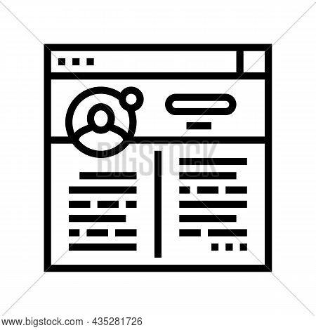 Blog Social Media Line Icon Vector. Blog Social Media Sign. Isolated Contour Symbol Black Illustrati