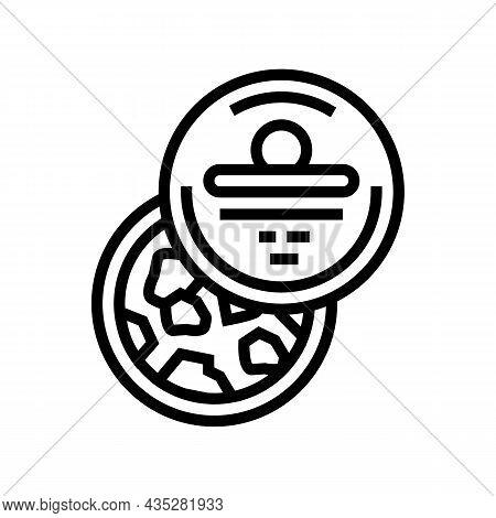 Bath Salt Container Line Icon Vector. Bath Salt Container Sign. Isolated Contour Symbol Black Illust