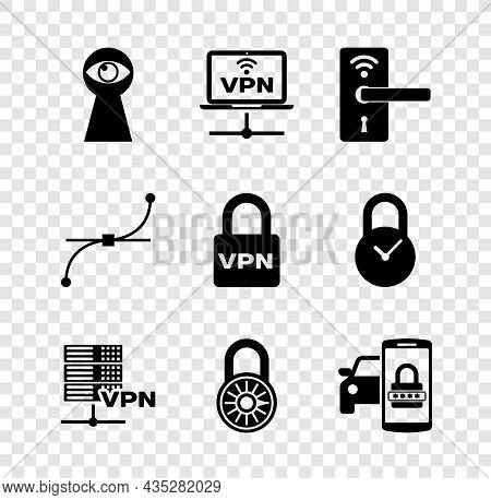 Set Keyhole With Eye, Vpn Computer Network, Digital Door Lock Wireless, Server, Safe Combination Whe