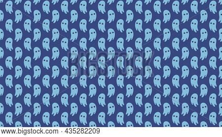 Halloween. Day Of Dead. Ghost. Paranormal Creature. Background, Pattern, Banner. Vector.