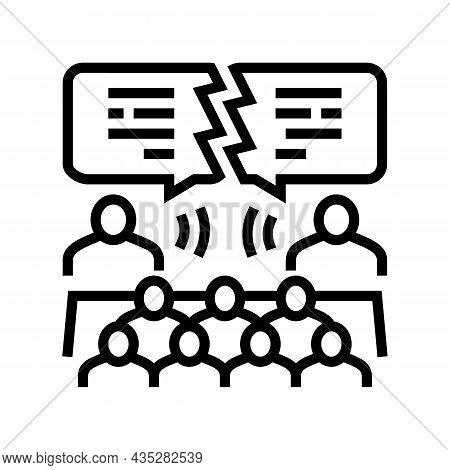 Debate Candidates Line Icon Vector. Debate Candidates Sign. Isolated Contour Symbol Black Illustrati