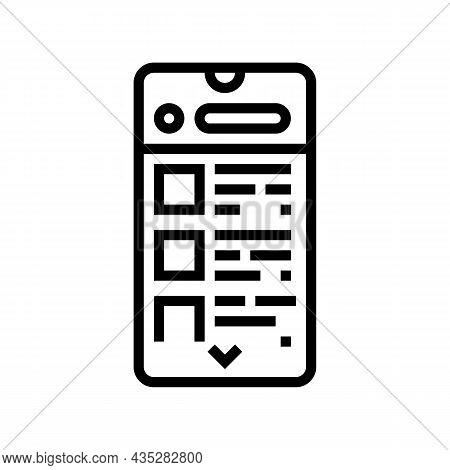 Commerce Application Line Icon Vector. Commerce Application Sign. Isolated Contour Symbol Black Illu