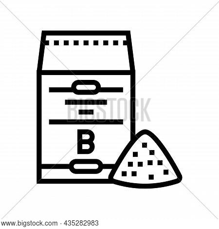 Barley Flour Bag Line Icon Vector. Barley Flour Bag Sign. Isolated Contour Symbol Black Illustration