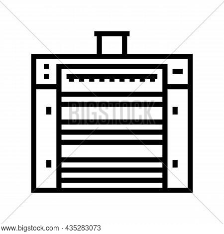 Mixing Wheat Grain Factory Equipment Line Icon Vector. Mixing Wheat Grain Factory Equipment Sign. Is