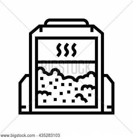 Conditioning Wheat Industrial Equipment Line Icon Vector. Conditioning Wheat Industrial Equipment Si