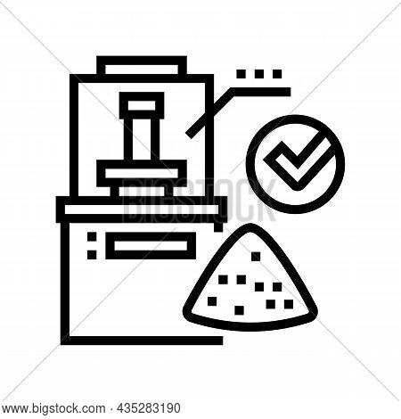 Wheat Quality Assessment Line Icon Vector. Wheat Quality Assessment Sign. Isolated Contour Symbol Bl