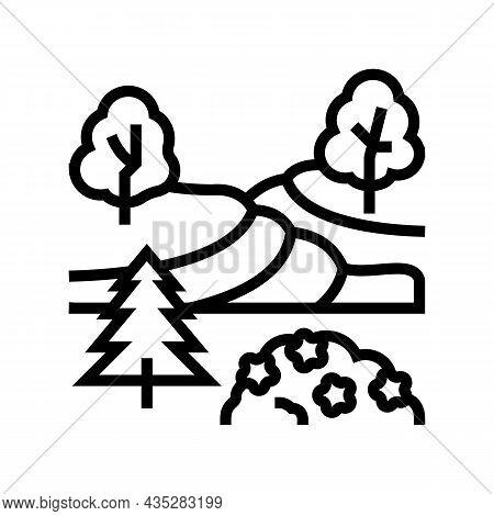 Landscape Maintenance Services Line Icon Vector. Landscape Maintenance Services Sign. Isolated Conto
