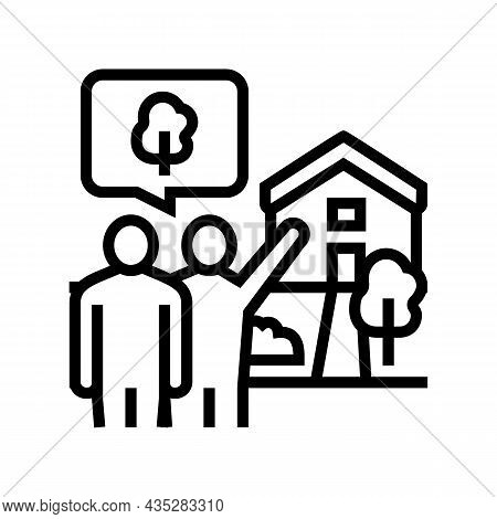 Home Consultations Line Icon Vector. Home Consultations Sign. Isolated Contour Symbol Black Illustra