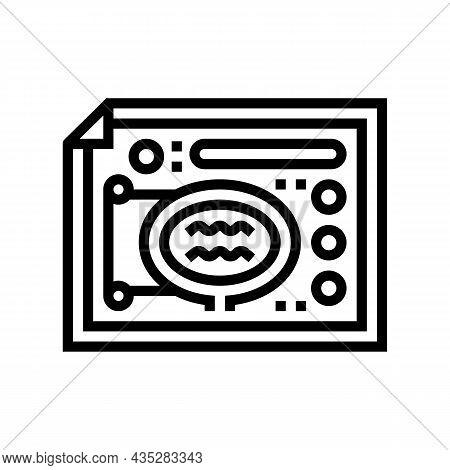 Landscape Design Plan Line Icon Vector. Landscape Design Plan Sign. Isolated Contour Symbol Black Il