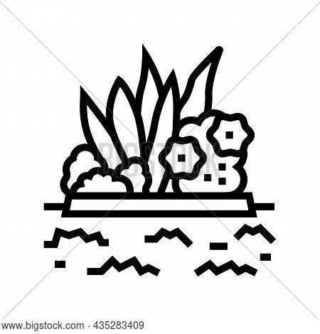 Plant Installation Line Icon Vector. Plant Installation Sign. Isolated Contour Symbol Black Illustra