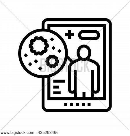 Electronic Ehealth Line Icon Vector. Electronic Ehealth Sign. Isolated Contour Symbol Black Illustra