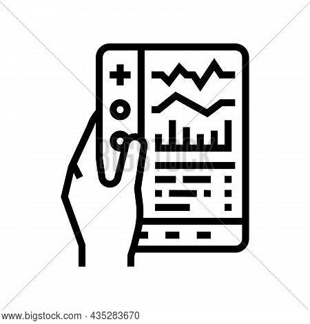 Remote Health Care Line Icon Vector. Remote Health Care Sign. Isolated Contour Symbol Black Illustra