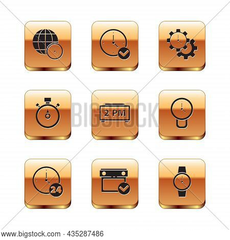 Set World Time, Clock 24 Hours, Calendar With Check Mark, Digital Alarm Clock, Stopwatch, Time Manag