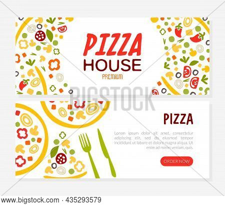 Pizza House Or Pizzeria Landing Page Vector Template