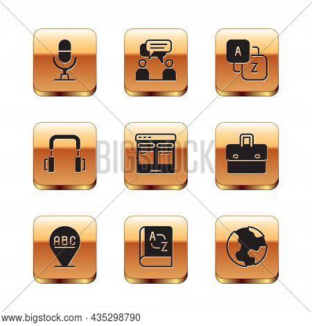 Set Microphone Voice Device, Alphabet, Translator Book, Online Translator, Headphones, Vocabulary, E