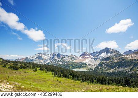 Beautiful mountain peak in  North Cascade Range, Washington,  USA