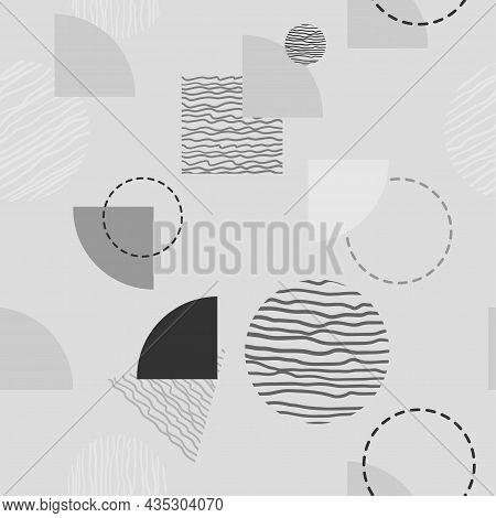 Vector Seamless Pattern. Modern Stylish Texture With Monochrome Trellis. Repeating Geometric Triangu