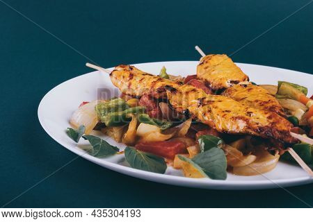 Tasty And Delicious Barbeque Fresh And Juicy Cooked And Grilled Food Oily Dinner Recipe Ready To Eat